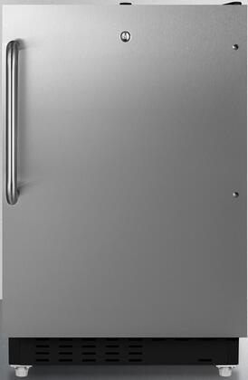 ALRF49BCSS 20 Compact Refrigerator with 2.68 cu. ft. Capacity  Full Width Freezer Compartment  ADA Compliant  Adjustable Shelves  Crisper