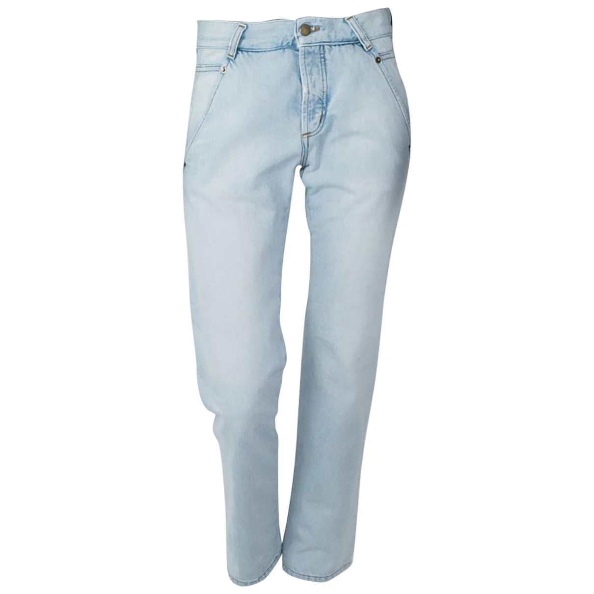 Alexander Mcqueen N Blue Cotton Jeans for Women 25 US