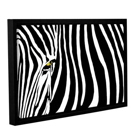 Brushstone Zebra Stripes Gallery Wrapped Floater-Framed Canvas Wall Art, One Size , Black