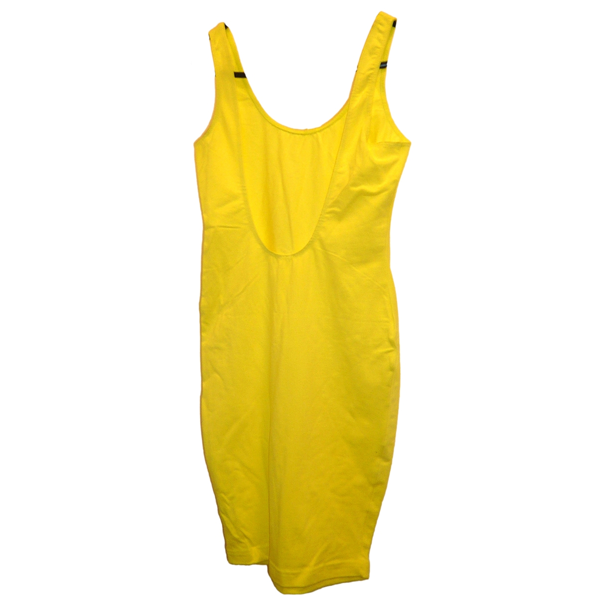 American Apparel \N Kleid in  Gelb Baumwolle - Elasthan
