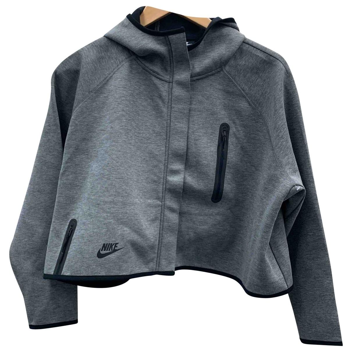 Nike \N Jacke in  Grau Baumwolle