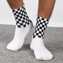 Maenner Socken mit Karo Muster