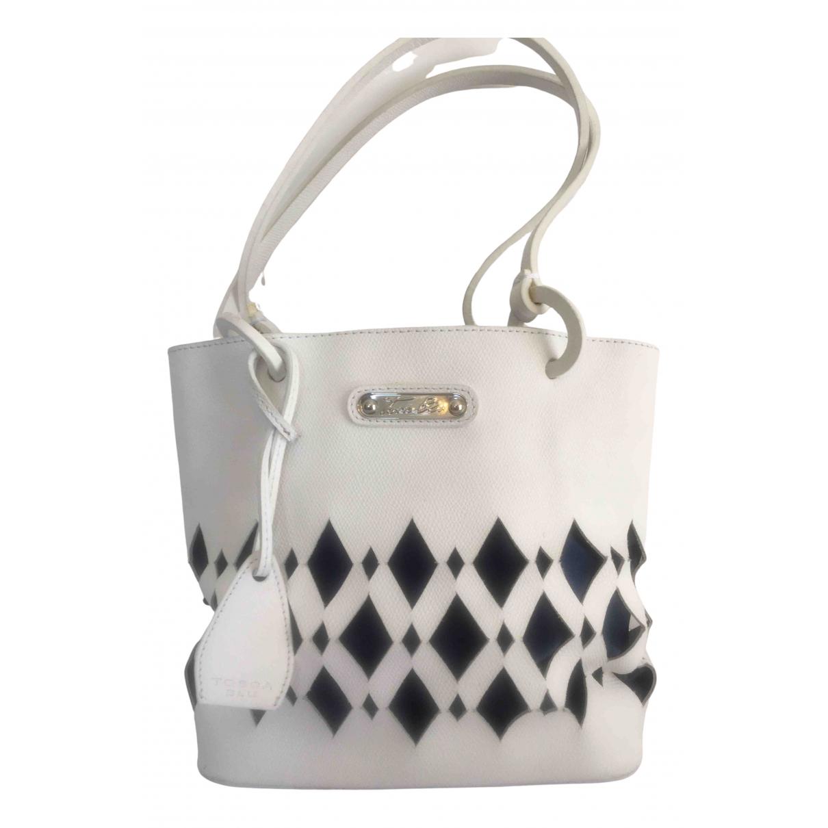 Tosca Blu - Sac a main   pour femme en cuir - blanc
