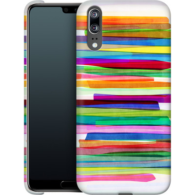 Huawei P20 Smartphone Huelle - Colorful Stripes 1 von Mareike Bohmer