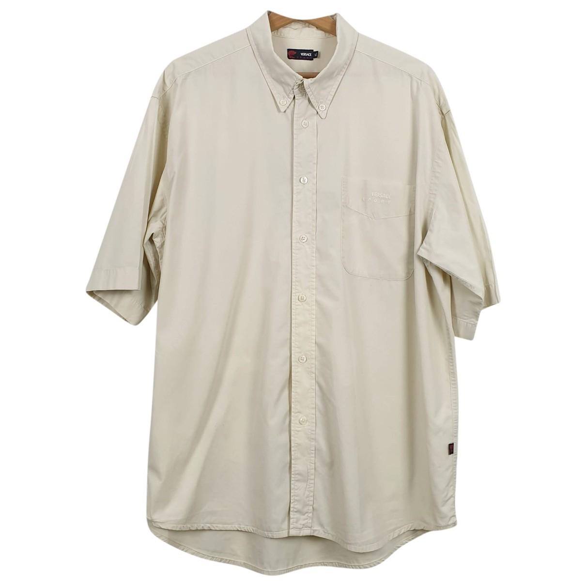 Versace \N Beige Cotton Shirts for Men XL International