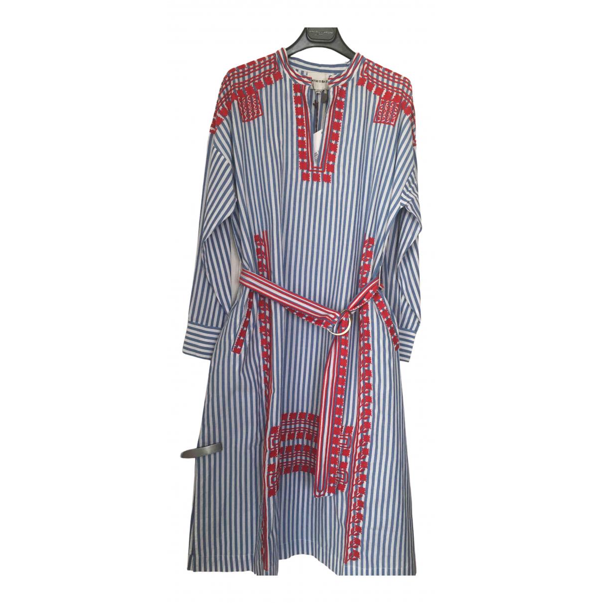 Antik Batik \N Kleid in  Blau Baumwolle
