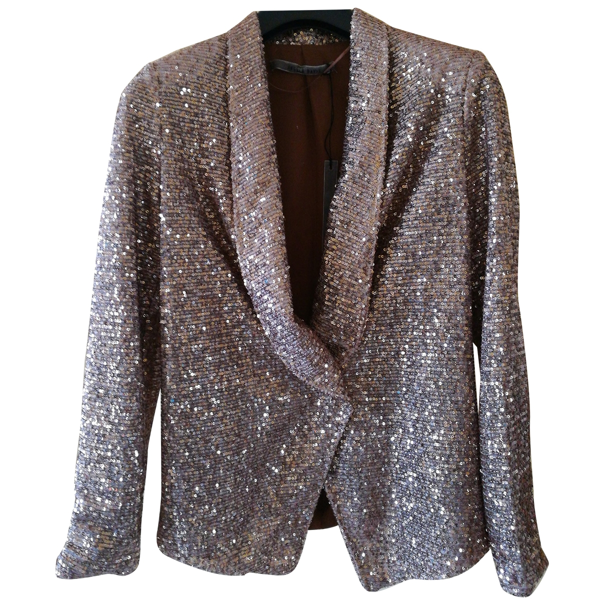 Non Signé / Unsigned \N Gold Glitter jacket for Women 36 FR