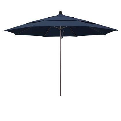 ALTO118117-48080-DWV 11' Venture Series Commercial Patio Umbrella With Matted White Aluminum Pole Fiberglass Ribs Pulley Lift With Sunbrella 1A