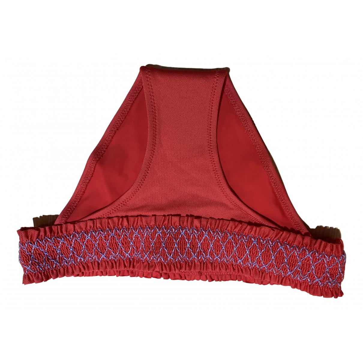 Heidi Klein \N Badeanzug in  Rot Baumwolle - Elasthan