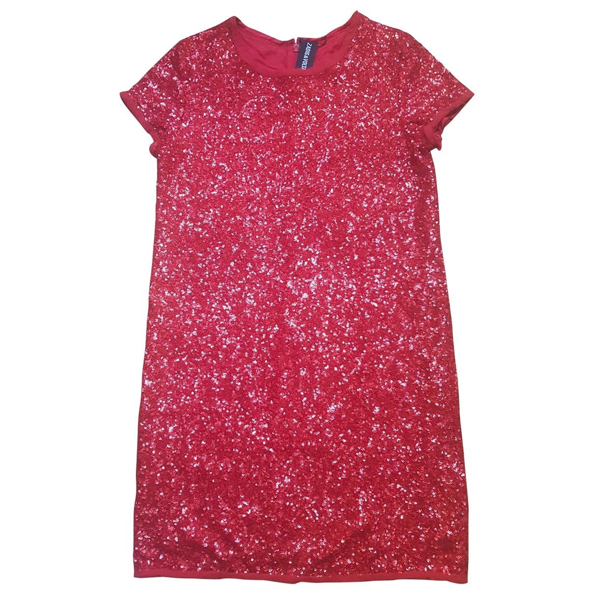Zadig & Voltaire \N Kleid in  Rot Baumwolle