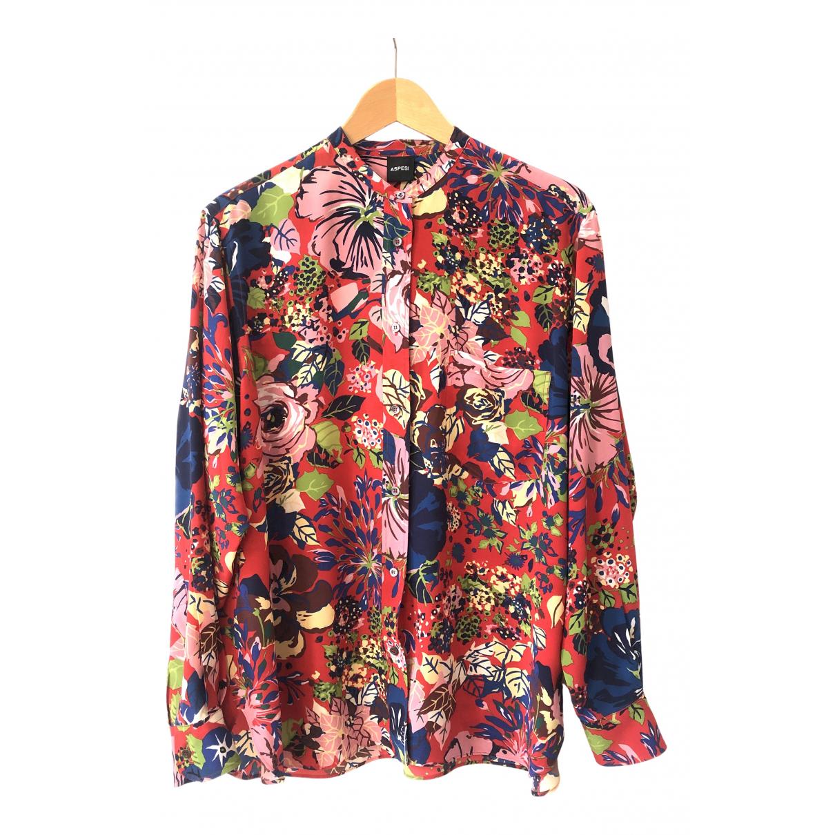 Aspesi - Top   pour femme en soie - multicolore