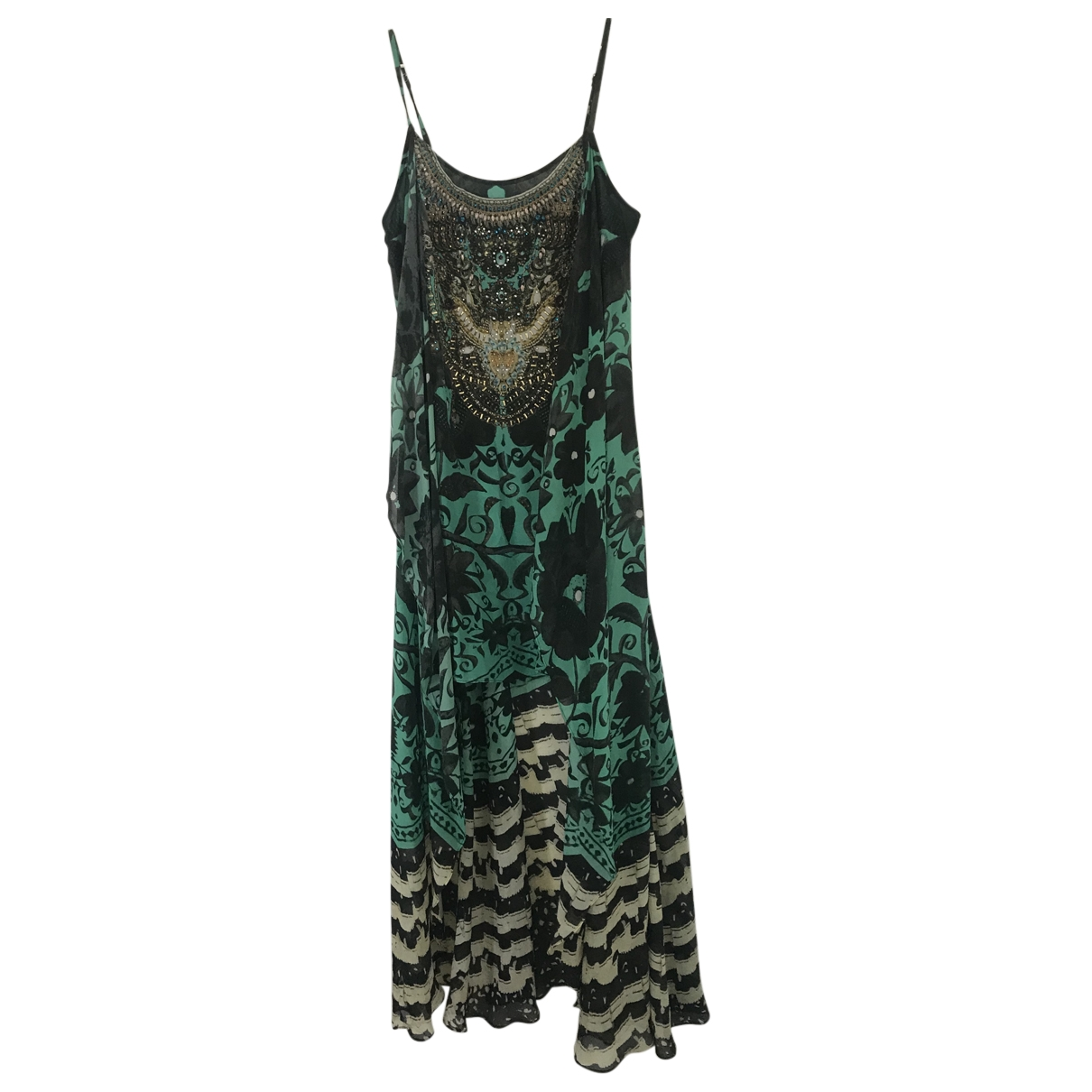 Camilla \N Green Silk dress for Women 1 0-5