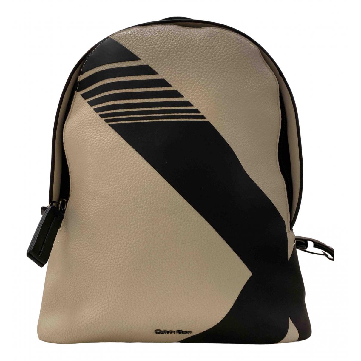 Calvin Klein \N White Leather backpack for Women \N