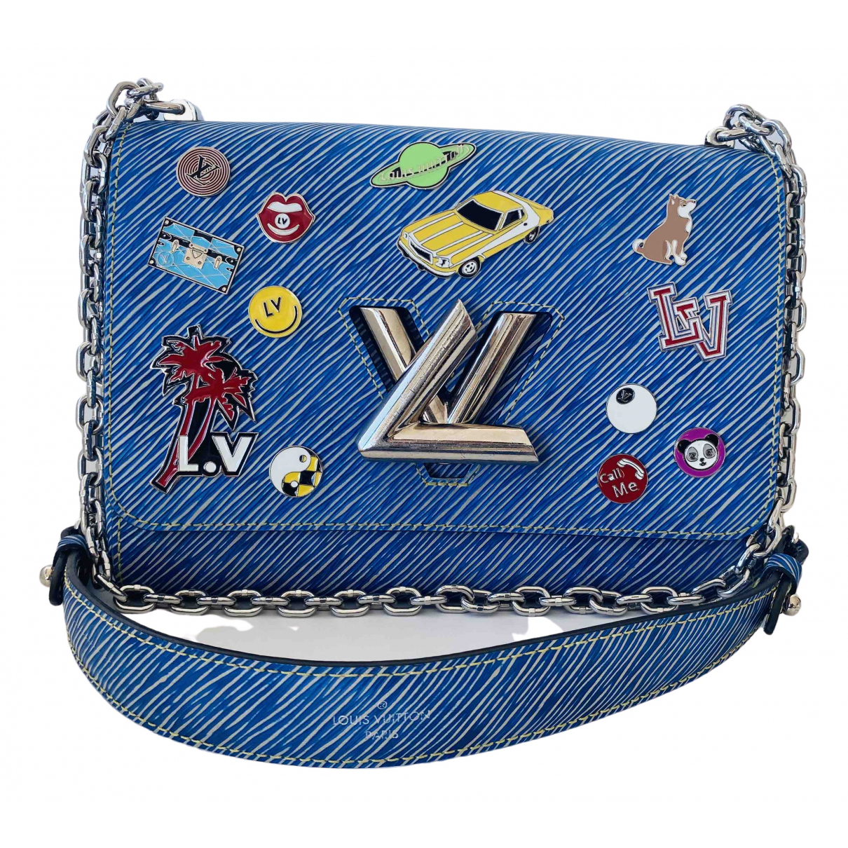 Louis Vuitton Twist Blue Leather handbag for Women \N