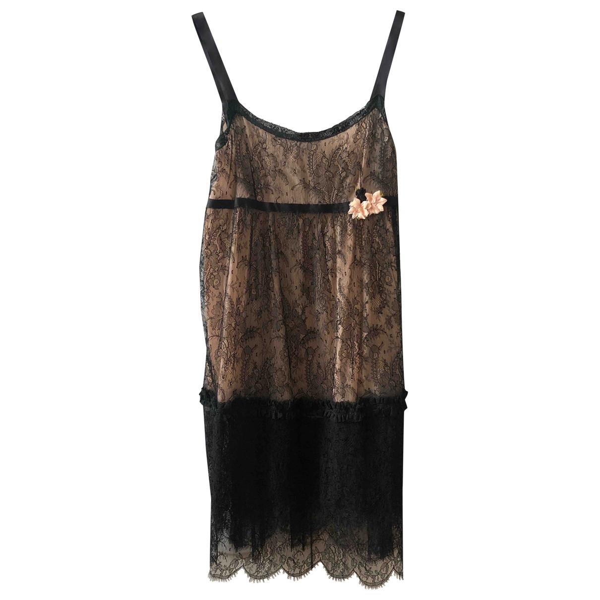Anna Molinari \N Kleid in  Schwarz Spitze
