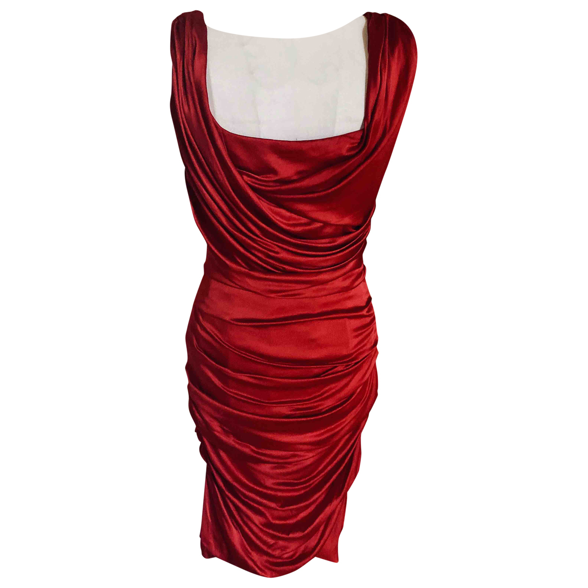 Dolce & Gabbana \N Red Silk dress for Women 40 IT