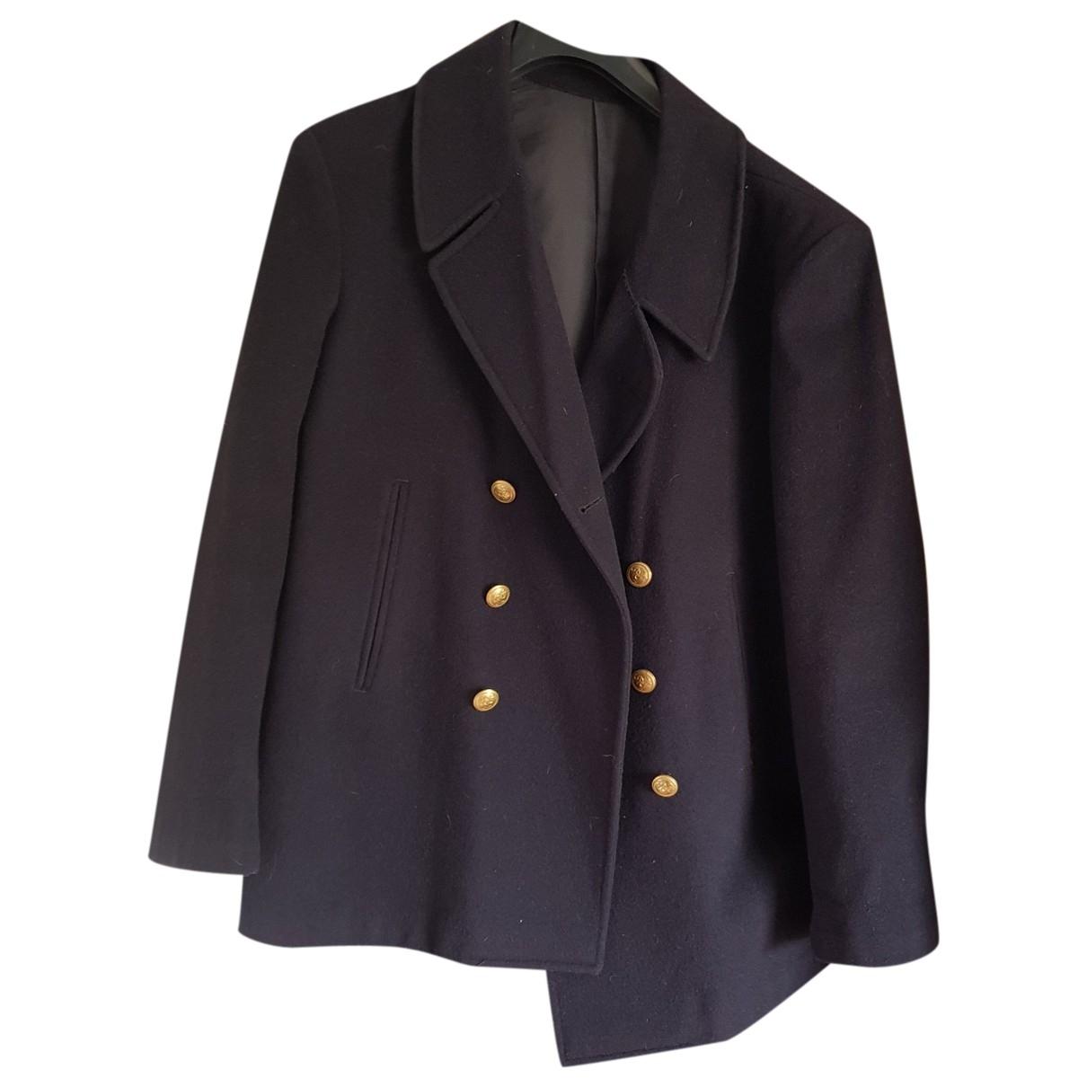 - Manteau Oversize pour homme en laine - marine