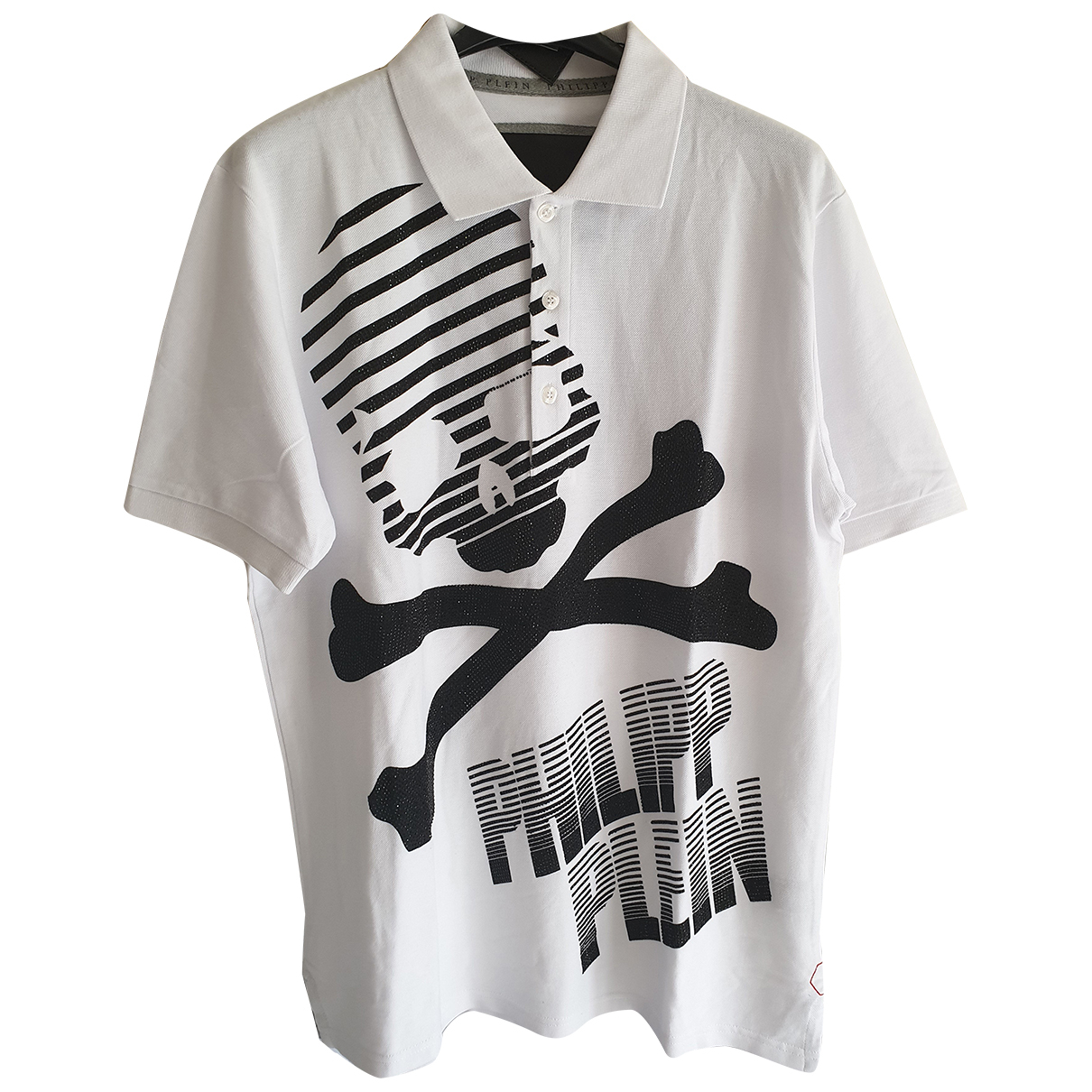 Philipp Plein - Polos   pour homme en coton - blanc