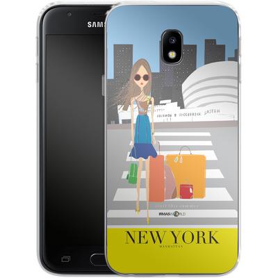 Samsung Galaxy J3 (2017) Silikon Handyhuelle - NEW YORK TRAVEL POSTER von IRMA