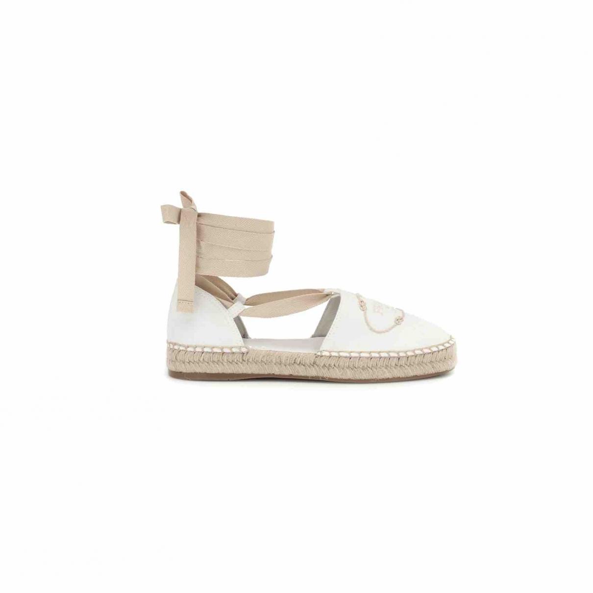 Prada \N White Cloth Espadrilles for Women 36 EU