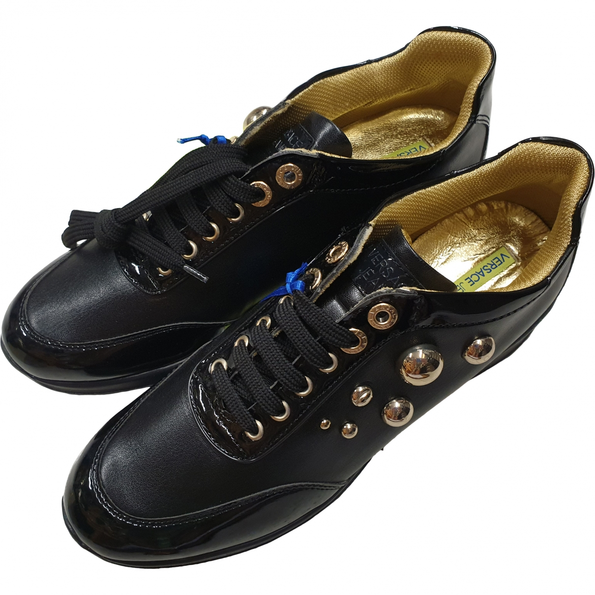 Versace Jeans \N Black Leather Trainers for Women 40 EU
