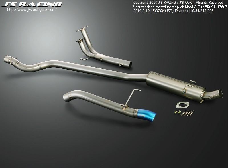 Js Racing FX-PRO 70RR Titanium Exhaust Honda Civic EP3 01-05