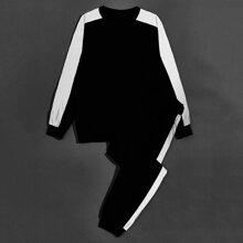 Pullover & Jogginghose mit seitlichem reflektierendem Band