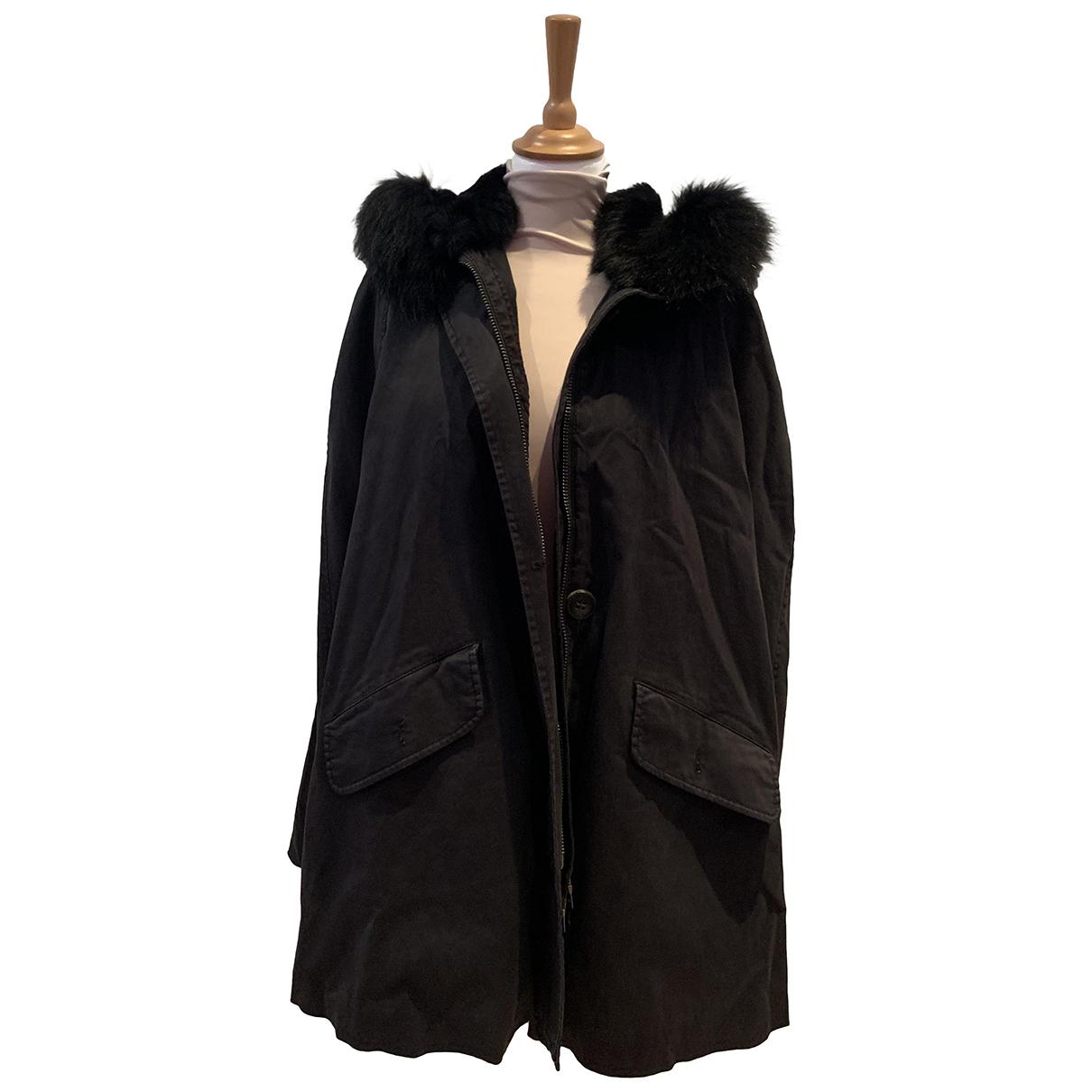 Blonde No.8 - Manteau   pour femme en racoon - noir
