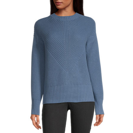 a.n.a Womens Crew Neck Pullover Sweater, X-small , Blue