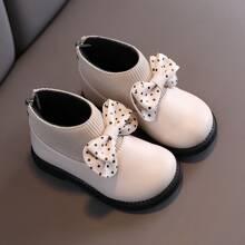 Kleinkind Maedchen Stiefel mit Schleife Dekor und Reissverschluss hinten