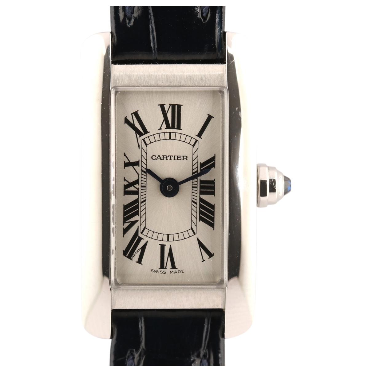 Cartier Tank Américaine Navy Steel watch for Women \N