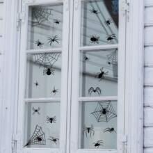 Halloween Spider Print Wall Sticker