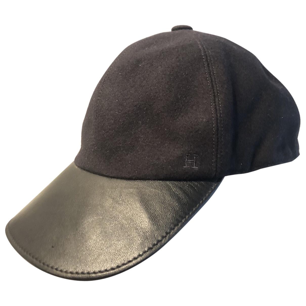 Hermes - Chapeau & Bonnets   pour homme en cachemire - marine