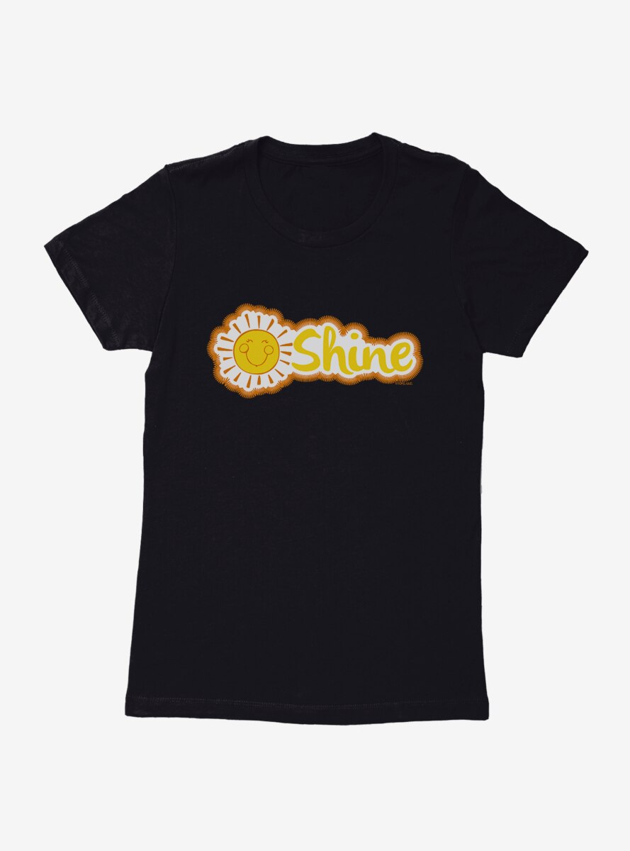 Care Bears Funshine Bear Shine Script Womens T-Shirt