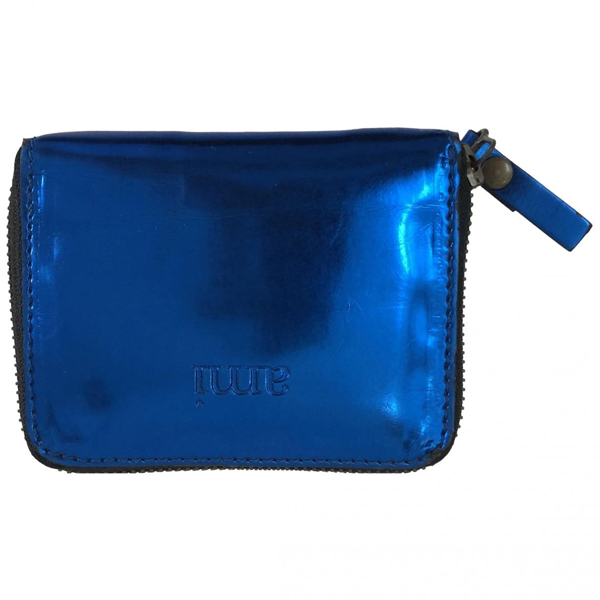 Ami \N Portemonnaie in  Blau Leder