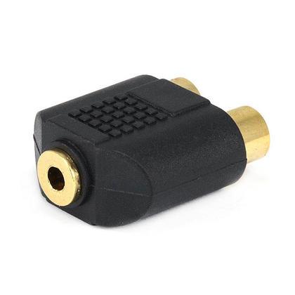 Adaptateur répartiteur 3.5mm mono jack vers 2x RCA jack, plaqué or - Monoprice®