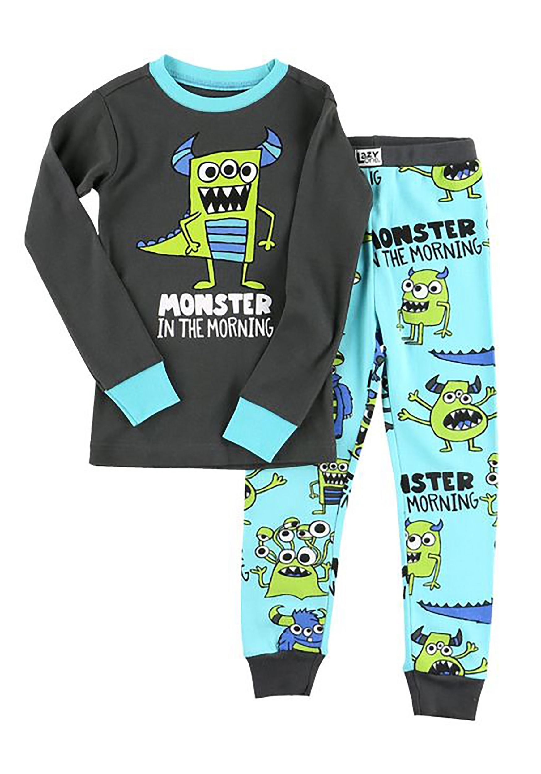 Monster in the Morning Boys Long Sleeve Pajama Set