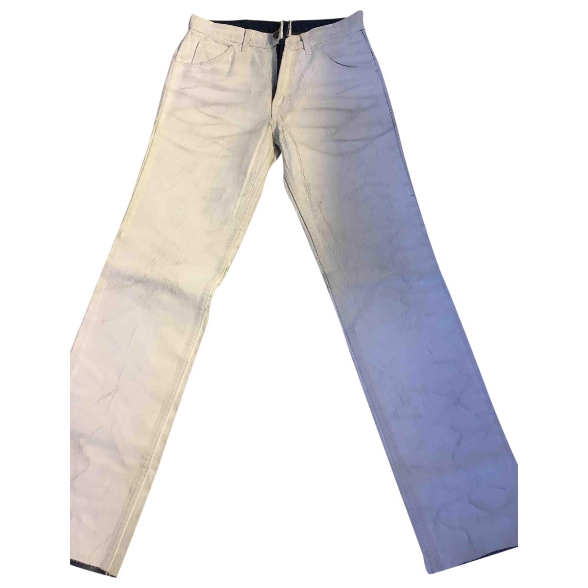 Maison Martin Margiela \N White Denim - Jeans Jeans for Women 31 US