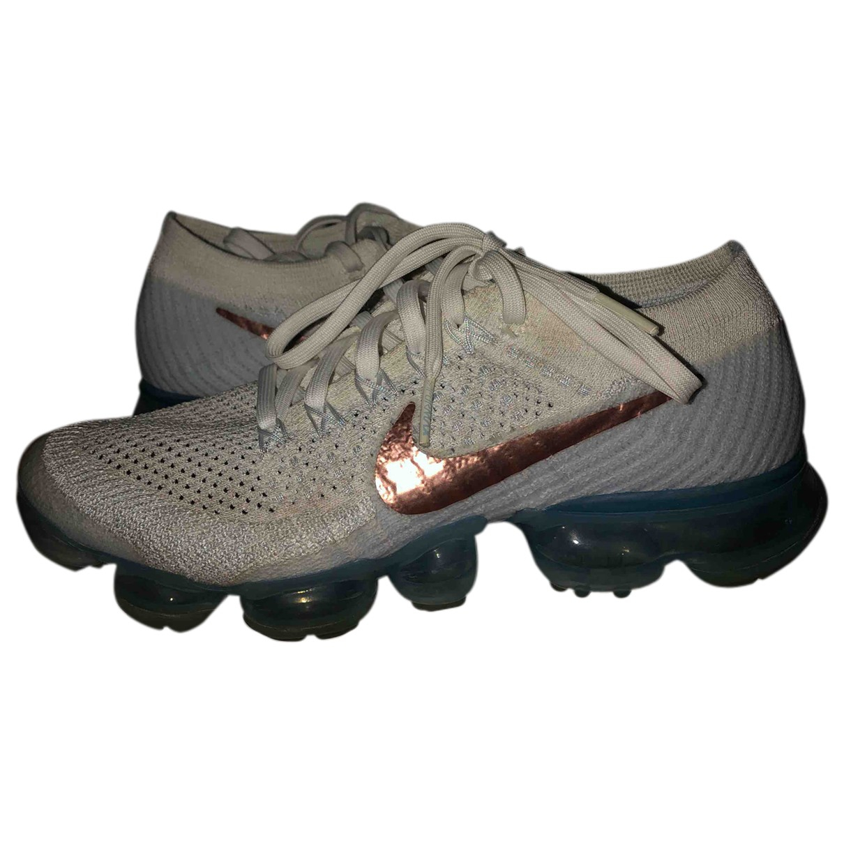 Nike Air VaporMax Sneakers in  Weiss Leinen