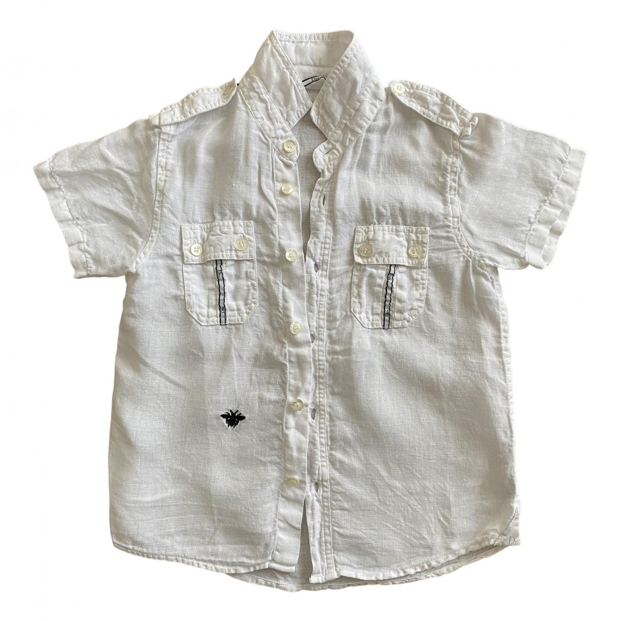 Baby Dior - Top   pour enfant en lin - blanc