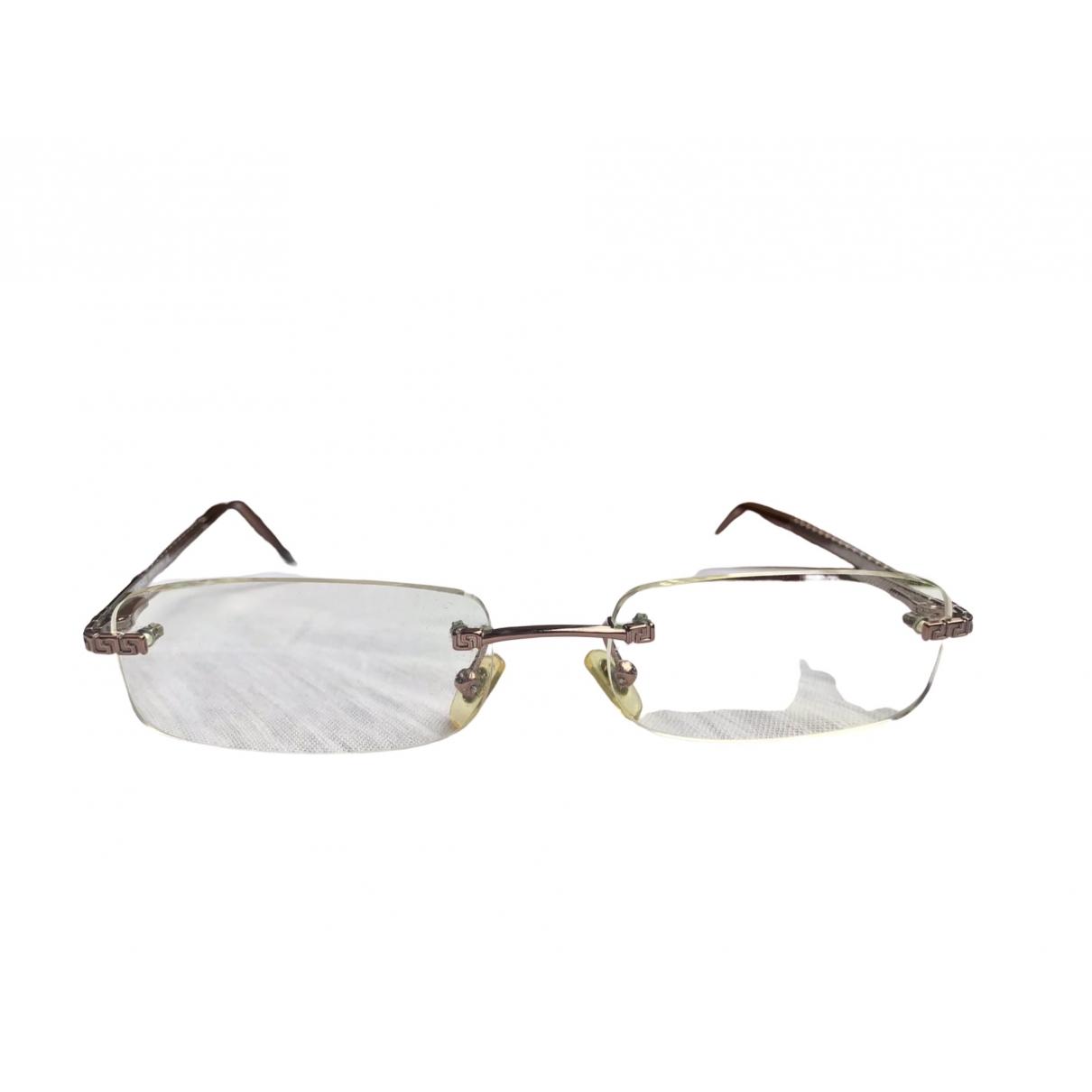Versace \N Sonnenbrillen in  Silber Metall