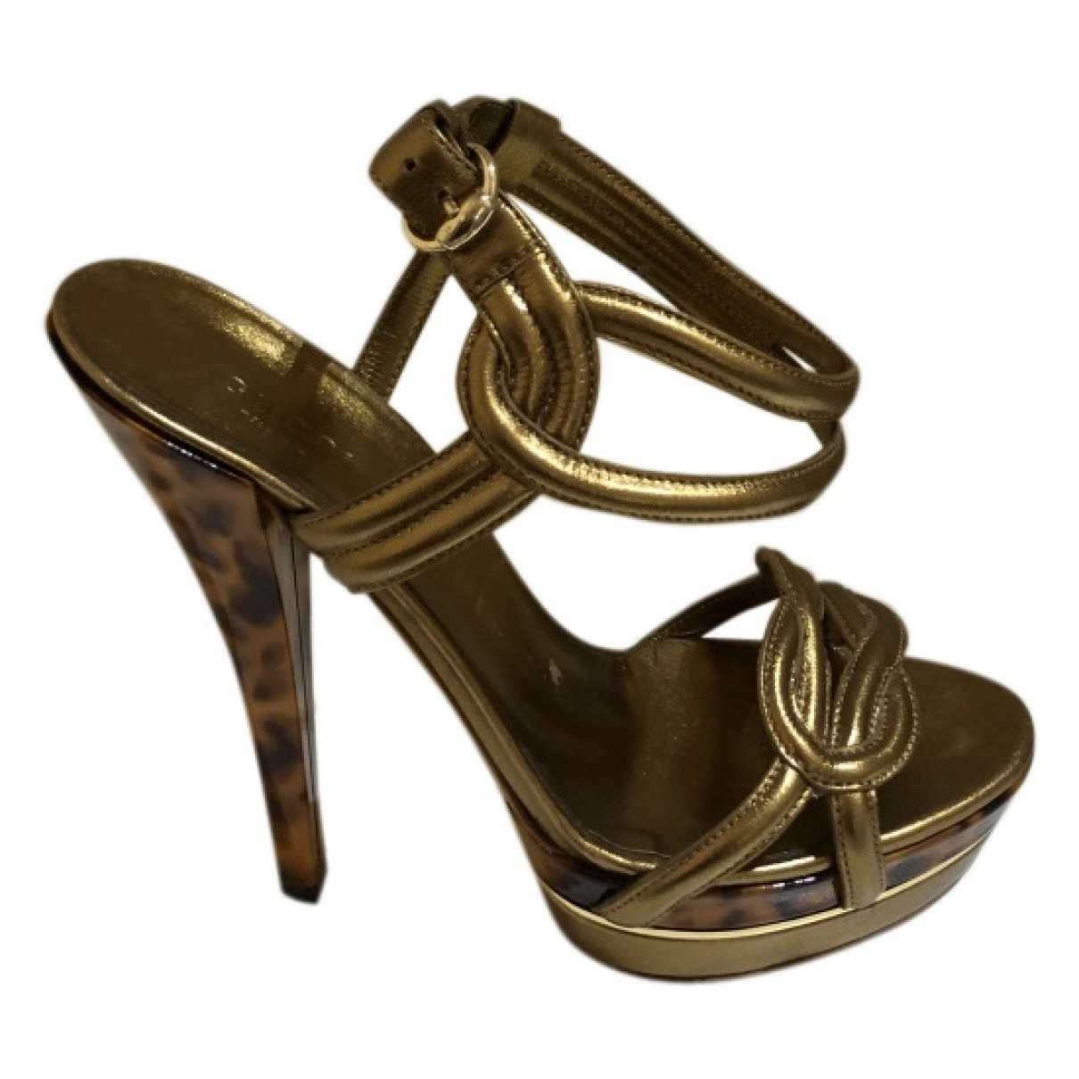 Gucci \N Gold Leather Sandals for Women 39 EU