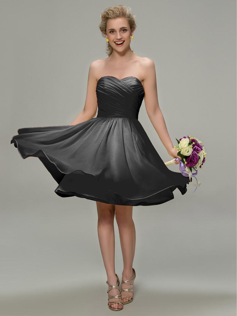 Ericdress Sweetheart Pleats Beach Bridesmaid Dress