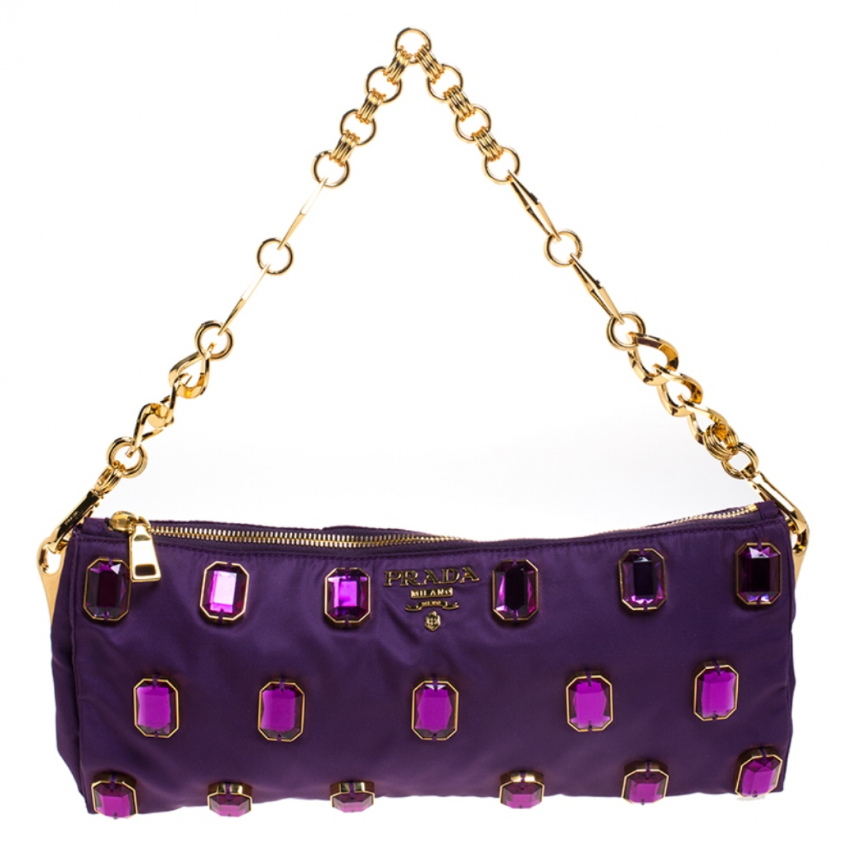 Prada \N Clutch in  Lila Leinen