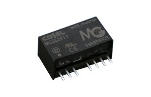 Cosel MGW 10.08W Isolated DC-DC Converter PCB Mount, Voltage in 4.5 → 9 V dc, Voltage out ±12V dc