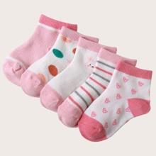 5 Paare Kleinkind Socken mit Streifen