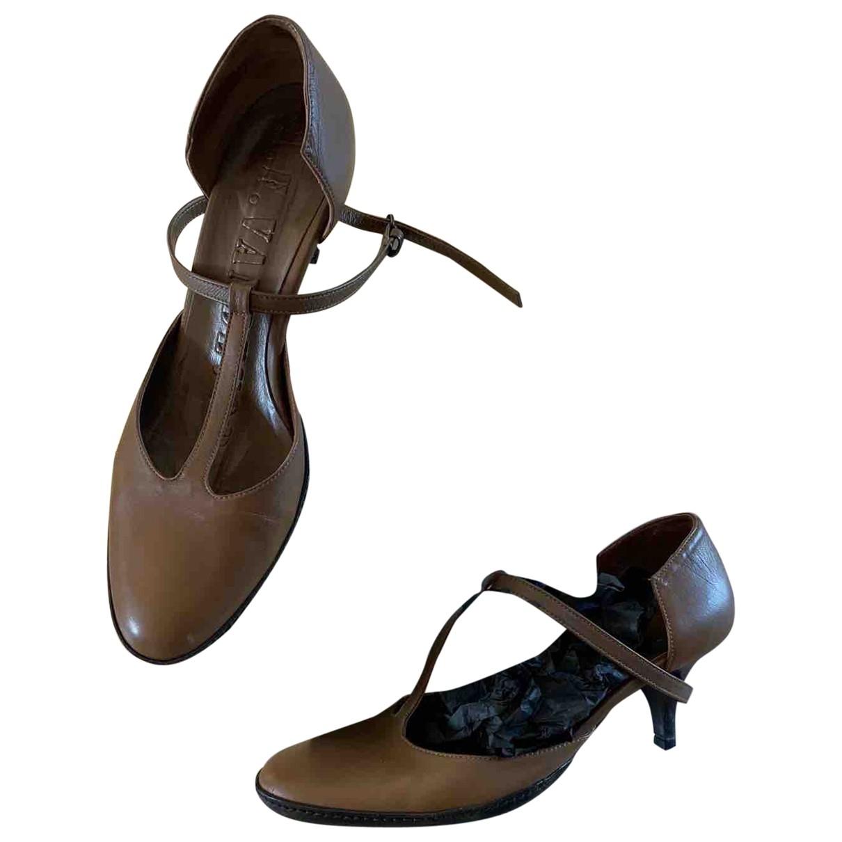 A.f.vandevorst \N Brown Leather Heels for Women 40 EU