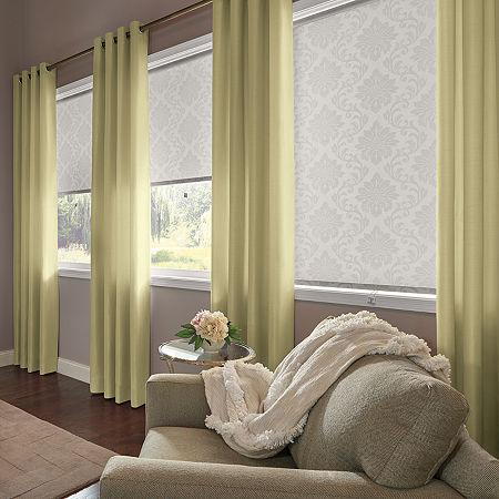 Bali Coastal Custom Light-Filtering Grommet-Top Single Curtain Panel, One Size , Brown