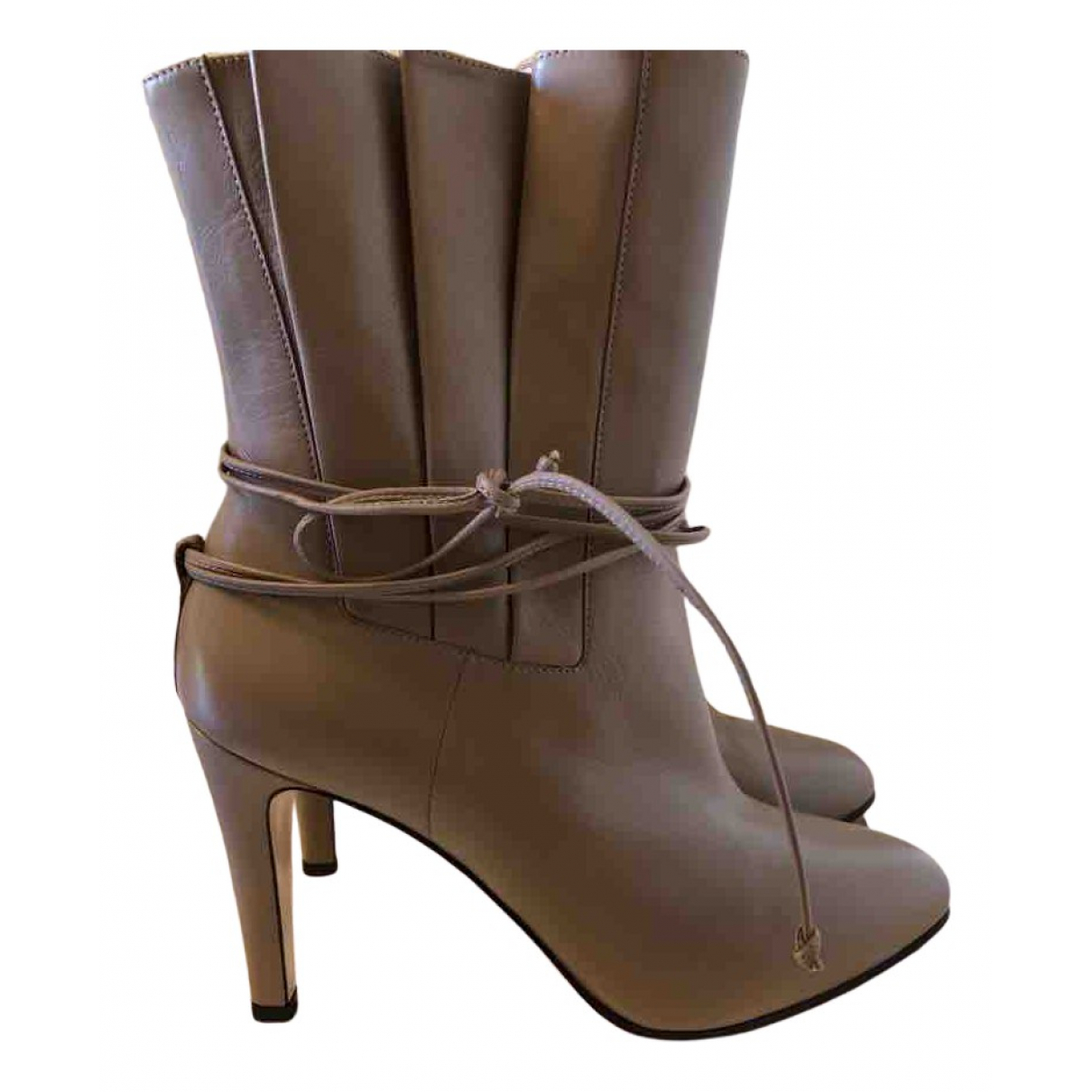 Gucci N Leather Ankle boots for Women 39.5 EU