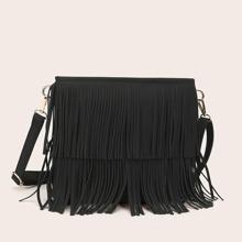 Fringe Decor Crossbody Bag